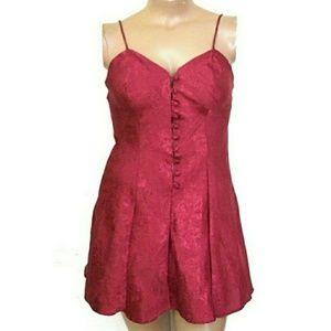 Adonna M, Floral Red Slip